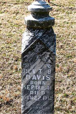 DAVIS, T. B. (REV) - Boone County, Arkansas | T. B. (REV) DAVIS - Arkansas Gravestone Photos