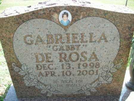 "DE ROSA, GABRIELLA ""GABBY"" - Boone County, Arkansas | GABRIELLA ""GABBY"" DE ROSA - Arkansas Gravestone Photos"