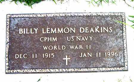 DEAKINS  (VETERAN WWII), BILLY LEMMON - Boone County, Arkansas | BILLY LEMMON DEAKINS  (VETERAN WWII) - Arkansas Gravestone Photos