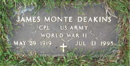 DEAKINS  (VETERAN WWII), JAMES MONTE - Boone County, Arkansas | JAMES MONTE DEAKINS  (VETERAN WWII) - Arkansas Gravestone Photos