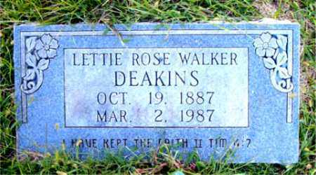 WALKER DEAKINS, LETTIE  ROSE - Boone County, Arkansas | LETTIE  ROSE WALKER DEAKINS - Arkansas Gravestone Photos