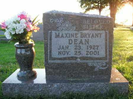 DEAN, MAXINE BRYANT - Boone County, Arkansas | MAXINE BRYANT DEAN - Arkansas Gravestone Photos
