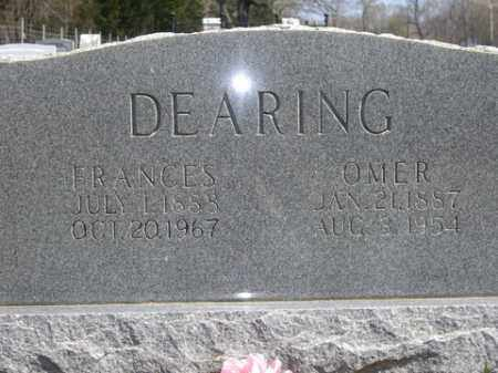 DEARING, FRANCES - Boone County, Arkansas | FRANCES DEARING - Arkansas Gravestone Photos