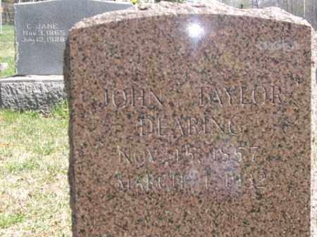 DEARING, JOHN TAYLOR - Boone County, Arkansas | JOHN TAYLOR DEARING - Arkansas Gravestone Photos
