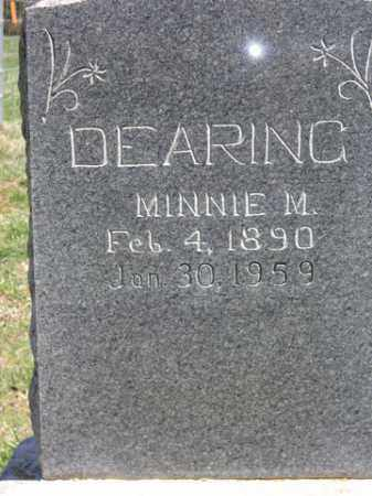 DEARING, MINNIE M. - Boone County, Arkansas | MINNIE M. DEARING - Arkansas Gravestone Photos