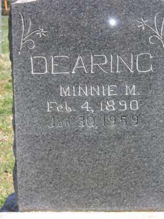 DEARING, MINNIE MAE - Boone County, Arkansas | MINNIE MAE DEARING - Arkansas Gravestone Photos