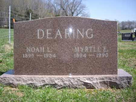 DEARING, NOAH L. - Boone County, Arkansas | NOAH L. DEARING - Arkansas Gravestone Photos