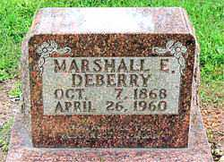 DEBERRY, MARSHALL E. - Boone County, Arkansas | MARSHALL E. DEBERRY - Arkansas Gravestone Photos