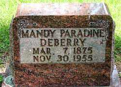 DEBERRY, MANDY PARADINE - Boone County, Arkansas | MANDY PARADINE DEBERRY - Arkansas Gravestone Photos