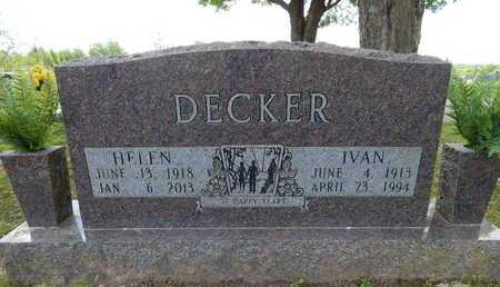 DECKER, IVAN - Boone County, Arkansas | IVAN DECKER - Arkansas Gravestone Photos