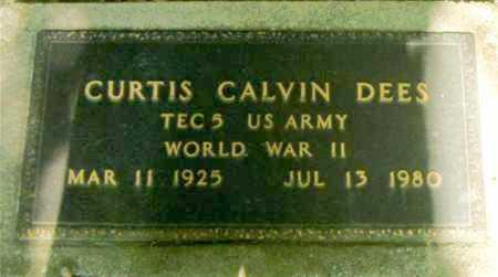 DEES  (VETERAN WWII), CURTIS CALVIN - Boone County, Arkansas | CURTIS CALVIN DEES  (VETERAN WWII) - Arkansas Gravestone Photos