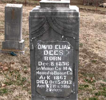 DEES, DAVID ELIAS - Boone County, Arkansas | DAVID ELIAS DEES - Arkansas Gravestone Photos
