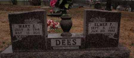 DEES, ELMER P. - Boone County, Arkansas   ELMER P. DEES - Arkansas Gravestone Photos