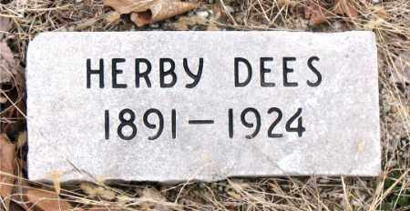 DEES, HERBY - Boone County, Arkansas | HERBY DEES - Arkansas Gravestone Photos