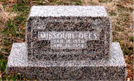 DEES, MISSOURI - Boone County, Arkansas | MISSOURI DEES - Arkansas Gravestone Photos