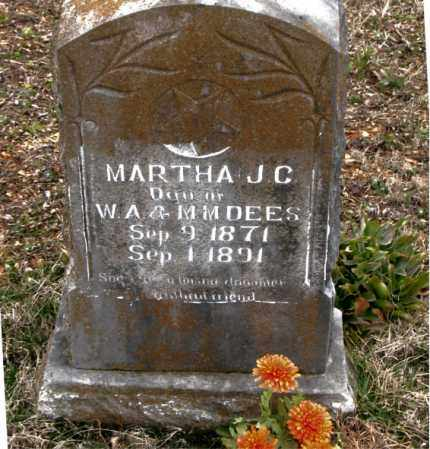 DEES, MARTHA J. C. - Boone County, Arkansas | MARTHA J. C. DEES - Arkansas Gravestone Photos