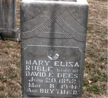 RUBLE DEES, MARY ELIZA - Boone County, Arkansas | MARY ELIZA RUBLE DEES - Arkansas Gravestone Photos