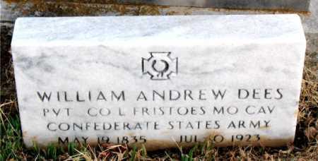 DEES  (VETERAN CSA), WILLIAM ANDREW - Boone County, Arkansas | WILLIAM ANDREW DEES  (VETERAN CSA) - Arkansas Gravestone Photos