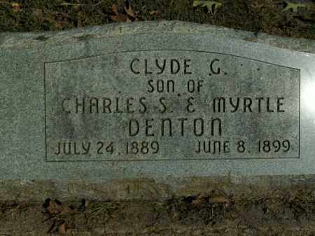 DENTON, CLYDE C. - Boone County, Arkansas | CLYDE C. DENTON - Arkansas Gravestone Photos