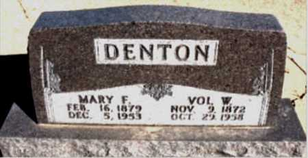DENTON, VOL  W. - Boone County, Arkansas | VOL  W. DENTON - Arkansas Gravestone Photos