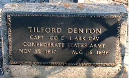DENTON  (VETERAN CSA), TILFORD - Boone County, Arkansas | TILFORD DENTON  (VETERAN CSA) - Arkansas Gravestone Photos