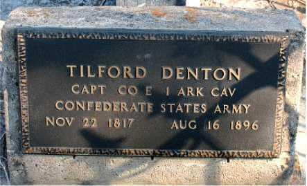 DENTON  (VETERAN CSA), TILFORD - Boone County, Arkansas | TILFORD DENTON  (VETERAN CSA) - Arkansas Gravestone Photos