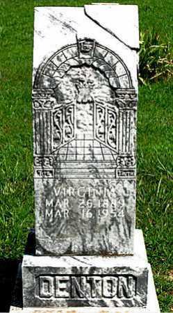DENTON, VIRGINIA - Boone County, Arkansas | VIRGINIA DENTON - Arkansas Gravestone Photos
