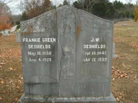 GREEN DESHIELDS, FRANKIE - Boone County, Arkansas | FRANKIE GREEN DESHIELDS - Arkansas Gravestone Photos