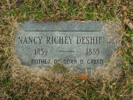 RICHEY DESHIELDS, NANCY - Boone County, Arkansas | NANCY RICHEY DESHIELDS - Arkansas Gravestone Photos