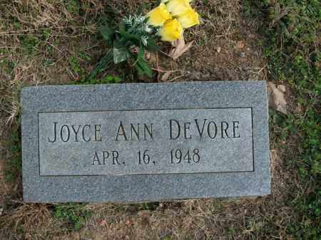DEVORE, JOYCE ANN - Boone County, Arkansas | JOYCE ANN DEVORE - Arkansas Gravestone Photos