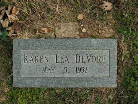 DEVORE, KAREN LEA - Boone County, Arkansas | KAREN LEA DEVORE - Arkansas Gravestone Photos