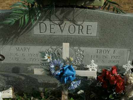 DEVORE, TROY F. - Boone County, Arkansas | TROY F. DEVORE - Arkansas Gravestone Photos