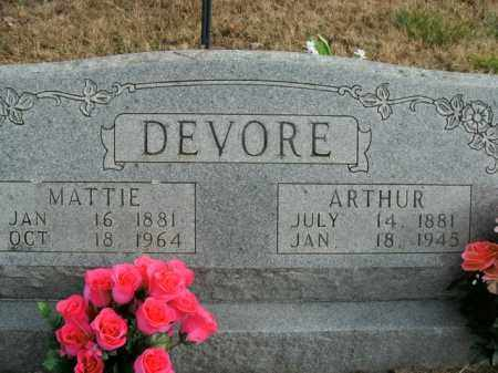 DEVORE, MATTIE - Boone County, Arkansas | MATTIE DEVORE - Arkansas Gravestone Photos
