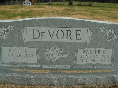 DEVORE, WALTER O. - Boone County, Arkansas   WALTER O. DEVORE - Arkansas Gravestone Photos