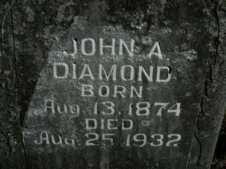 DIAMOND, JOHN A. - Boone County, Arkansas | JOHN A. DIAMOND - Arkansas Gravestone Photos
