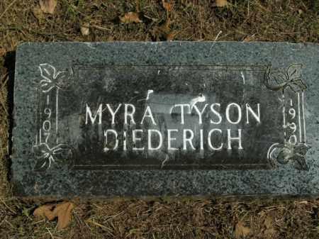 TYSON DIEDERICH, MYRA - Boone County, Arkansas | MYRA TYSON DIEDERICH - Arkansas Gravestone Photos