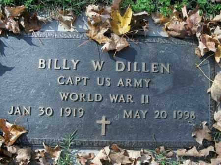 DILLEN (VETERAN WWII), BILLY W - Boone County, Arkansas | BILLY W DILLEN (VETERAN WWII) - Arkansas Gravestone Photos