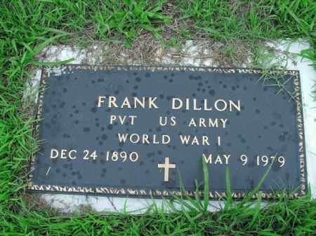 DILLON  (VETERAN WWI), FRANK - Boone County, Arkansas | FRANK DILLON  (VETERAN WWI) - Arkansas Gravestone Photos