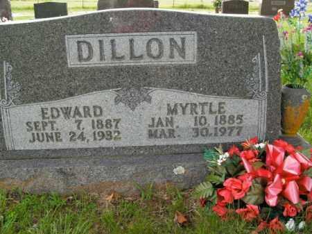 DILLON, MYRTLE - Boone County, Arkansas | MYRTLE DILLON - Arkansas Gravestone Photos