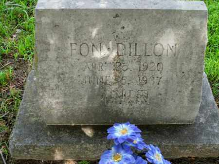 DILLON, FON - Boone County, Arkansas | FON DILLON - Arkansas Gravestone Photos