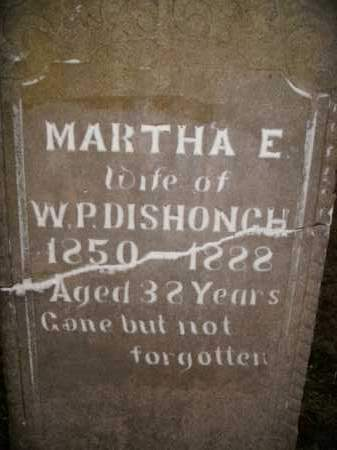 DISHONGH, MARTHA E. - Boone County, Arkansas | MARTHA E. DISHONGH - Arkansas Gravestone Photos