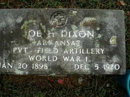 DIXON  (VETERAN WWI), JOE H - Boone County, Arkansas | JOE H DIXON  (VETERAN WWI) - Arkansas Gravestone Photos