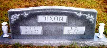 DIXON, W.  LEAH - Boone County, Arkansas | W.  LEAH DIXON - Arkansas Gravestone Photos