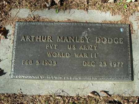 DODGE  (VETERAN WWII), ARTHUR MANLEY - Boone County, Arkansas | ARTHUR MANLEY DODGE  (VETERAN WWII) - Arkansas Gravestone Photos