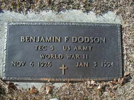 DODSON  (VETERAN WWII), BENJAMIN F - Boone County, Arkansas | BENJAMIN F DODSON  (VETERAN WWII) - Arkansas Gravestone Photos