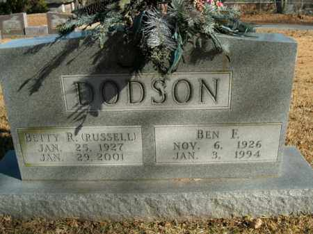 RUSSELL DODSON, BETTY R. - Boone County, Arkansas | BETTY R. RUSSELL DODSON - Arkansas Gravestone Photos