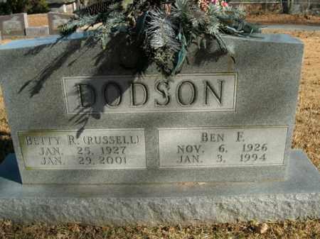 DODSON, BEN F. - Boone County, Arkansas | BEN F. DODSON - Arkansas Gravestone Photos
