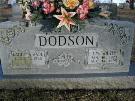 "DODSON, J. W. ""WHITEY"" - Boone County, Arkansas 