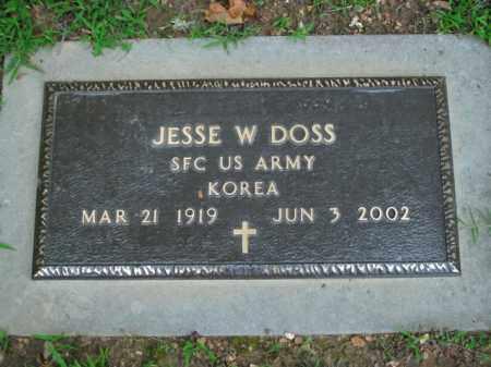 DOSS  (VETERAN KOR), JESSE W. - Boone County, Arkansas | JESSE W. DOSS  (VETERAN KOR) - Arkansas Gravestone Photos