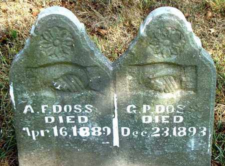 DOSS, A. F. - Boone County, Arkansas | A. F. DOSS - Arkansas Gravestone Photos